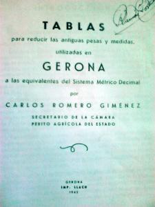 Mesures antigues Girona  hectàrees
