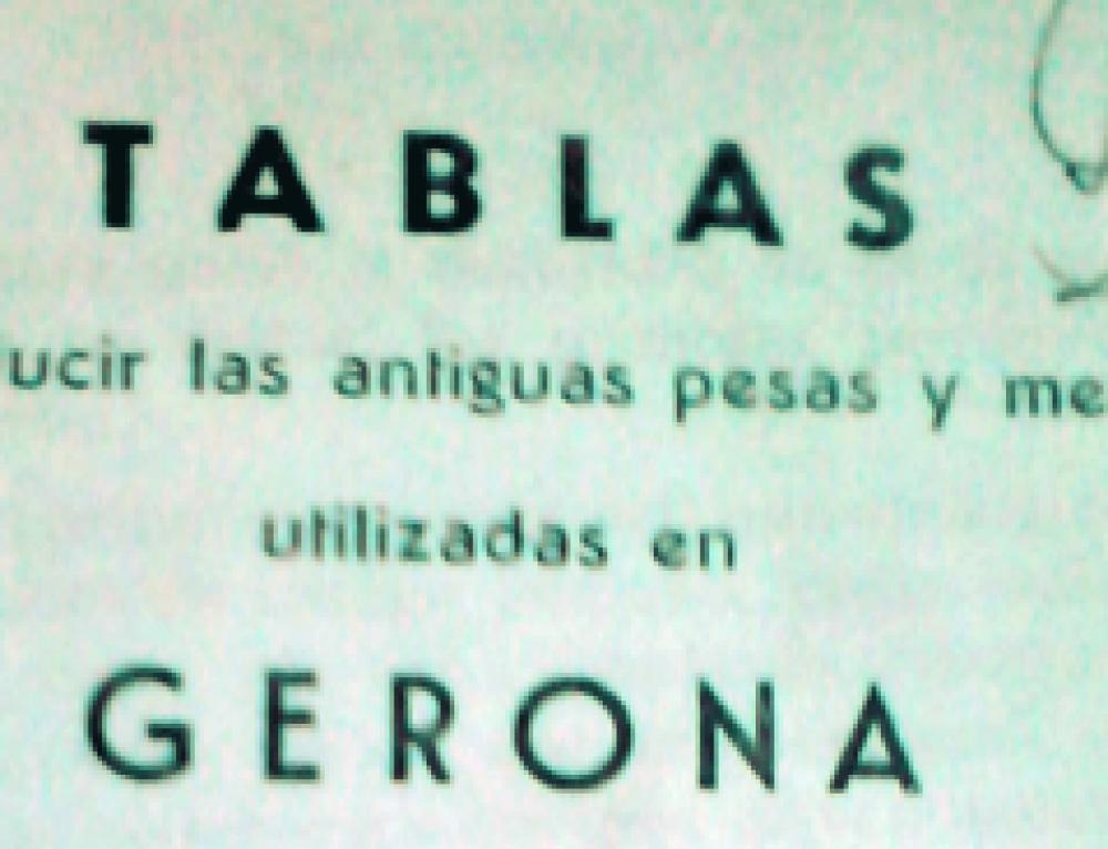 Finca rústica. Mesures antigues de mides a la província de Girona