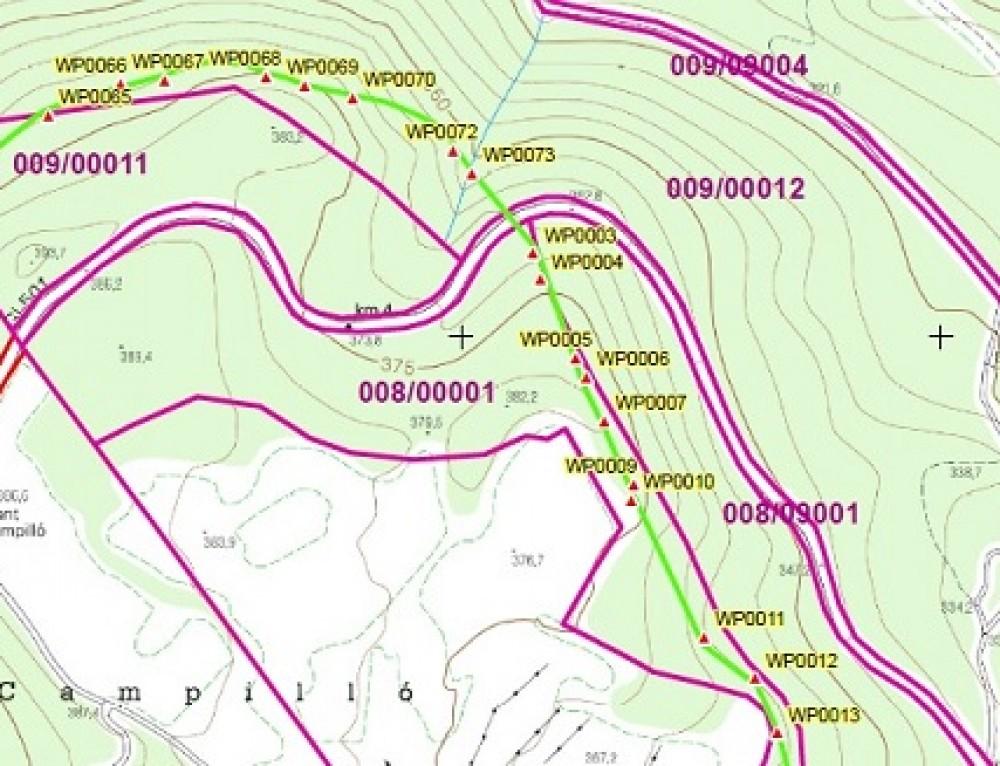 Medició de finques forestals i agrícoles amb GPS